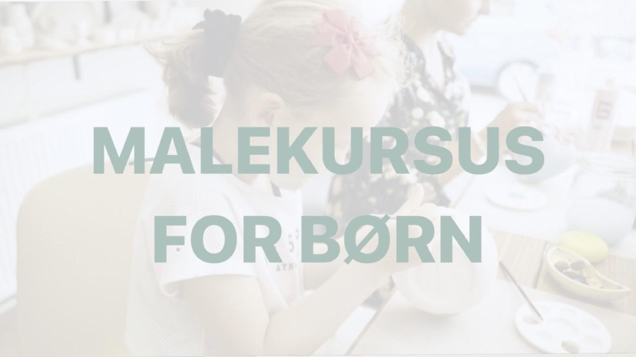 Malekursus for børn (10-15 år)